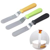 Wholesale christmas ice cream cake for sale - Group buy 6 Inch Stainless Steel Spatula Butter Cake Cream Knife Cake Smooth Spatula Icing Frosting Spreader Fondant Pastry Cake Decoration BH3065 TQQ