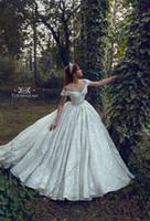 Wholesale wedding dresses for sale - 2019 New Arrival Country Style Luxury Lace Wedding Dresses Off Shoulder Applique Court Train Wedding Dress Bridal Gowns vestidos de novia