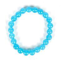 ingrosso blu di jasper-Blu aggiungere Pure bianco e trasparente Fatto insieme aggiungere perle lisce Pieno di lustro Blue Jasper Bracelet.Per il matrimonio