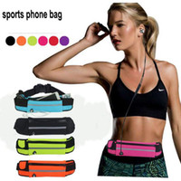 Wholesale water bottle bag belt resale online - Outdoor sport Water bottles Waterproof Sport Running Gym Belt pouch phone bag case waist bags For iphone samsung huawei lg mobile