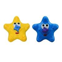 crianças de plástico para água pulverizada venda por atacado-Brinquedos Do Banho do bebê Linda Plastic starfish Forma Spray de Água para o Chuveiro de Bebê Natação Brinquedos Caçoa o Presente