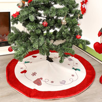 Wholesale sales apron for sale - Group buy Hot Sale Christmas Tree Skirt Invisible Nylon Clasp Xmas Tree Apron Holiday Christmas Decorations