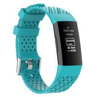 spor bileklik bileklik saat toptan satış-Fitbit Şarj 3 için Watch Band Spor Silikon Band bilek Kayışı Fitbit Şarj 3 Bilezik Için Akıllı Bileklik Akıllı Aksesuarları
