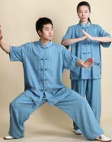 ingrosso abbigliamento donna wushu-Tai Chi Abbigliamento uniforme Donna Uomo Wushu Abbigliamento Abito uniforme Arti marziali Camminate all'aperto Sprots mattutini