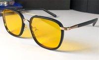 modelo 58 venda por atacado-Nova moda clássico óculos de sol atitude óculos de sol moldura de ouro quadrado moldura de metal pés de couro estilo vintage modelo de design ao ar livre 58