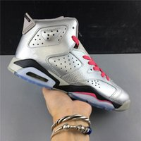 Wholesale outdoors shoes waterproof resale online - with box New silver grey pink VI s women high basketball shoes outdoor trainers top quality size