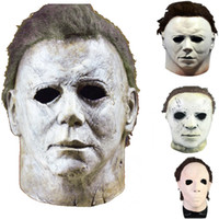 halloween michael myers achat en gros de-4 Styles Michael Myers Mask Halloween Party Mask Horror Movie Cosplay Adult Latex Full Face Helmet Halloween Party Scary Props HH9-2438