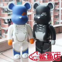 Wholesale toys resale online - New cm Bearbrick Blue Action Figure Collectible Model Hot Toys Birthdays Gifts Doll New Arrvial PVC