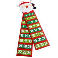 calendarios de adviento al por mayor-Navidad viejo hombre peludo calendario adviento cuenta regresiva calendario pared año nuevo Navidad decoraciones adornos para Home40