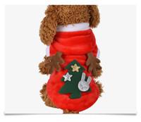 kış için sevimli köpek katları toptan satış-Pet Chirstmas Coat Kış Giyim Noel Köpek Giysileri Pet Köpek Santa Kostüm Sevimli Yavru Geyik Elk Kıyafet Giyim MMA1109