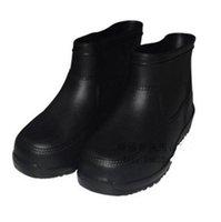 kanisterstiefel großhandel-Verschleißfeste kurze Kanister Regen Schuh Wasser Schuh Wasser Boot alle weißen Gao Ban Essen Stiefel EVA Gummi Schuh kurze Kanister tragbare Blase sh