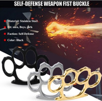 Wholesale self defense knuckle ring resale online - HOT Alloy thin Knuckles Tactical Survival Multi Functional Self Defense EDC Dusters Ring