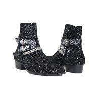 мужская обувь оптовых-Мужская модная одежда Wyatt Harness Ботинки челси Бандана Slp Замшевые бандана Ремешок с пряжкой Ботильоны Kanye West Shoes