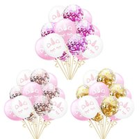 Wholesale unicorn party supplies resale online - 15pcs inches Rose Gold Confetti Balloon Unicorn Party Decoration Latex Unicorn Balloons Birthday Party Supplies C18122201