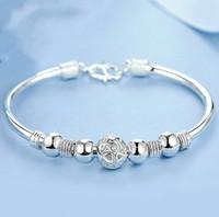 Wholesale bracelet silver balls resale online - Nine Transit Bead Bracelet White Copper Silver Transfer Bead Bracelet Women s Ling Ling Ball Jewelry Jewelry