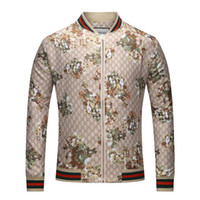 ceket toptan satış-Lüks Ceket Yeni Moda Tasarımcısı Marka Ceket Kaban Adam Tasarımcı Için Çiçek Desenleri Ile Bahar Antumn Ceketler Giyim Tops Yüksek kalite