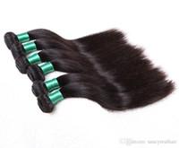 6a sınıf saç toptan satış-Uygunluğu Sınıf 6A-100% İnsan Brezilyalı Saç Ipek düz Saç atkı 100 g / adet 3 Adet / grup, Hiçbir arapsaçı hiçbir dökülme, DHL ÜCRETSIZ
