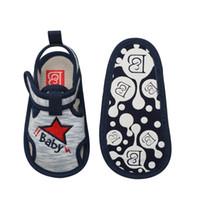 Wholesale tape baby resale online - Infant Toddler Baby Shoes Boy Sandal Magic Tape Soft Sole Non Slip Sneaker Prewalker For Summer Blue Size for baby s feet