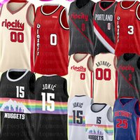 Wholesale lillard jersey for sale - Group buy NCAA Nikola Jokic Damian Lillard Jersey Carmelo Anthony Derrick Rose Jersey University C J McCollum Basketball Jerseys