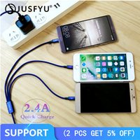 Wholesale phone charger pin resale online - 2 A Fast Charger in Micro USB M Cable for iPhone Android Type C Universal for Mobile Phones Charging Cables Pin Quick