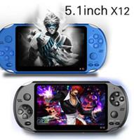 8gb mp3 mp4 player video al por mayor-Memoria X12 Handheld del juego del jugador 8GB portátiles consolas de videojuegos con 5.1