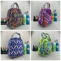 Wholesale lunch bag insulated resale online - Pastoral Style Printing Lunch Bag Children Picnic Insulated Coolers Bags VB Outdoor Picnic Flower Bag Retro Design Hot Sale jyH1
