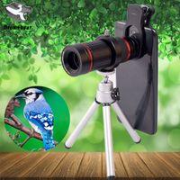 teleskop mobil für iphone großhandel-18X Universal-Clip-Teleskop-Handyobjektiv-Monokularlinse-Kamera für Iphone anderer Handy