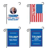 drapeaux de jardin livraison gratuite achat en gros de-30 * 45cm Donald John Trump Drapeaux Amercia Polyester Tête Métal Oeillet Personnalité Decortive Trump Jardin Drapeaux 13 Style Livraison Gratuite