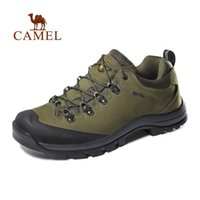 ingrosso pelle di cammello mans scarpe-CAMEL Donna Uomo Outdoor Escursioni Scarpe in pelle antiscivolo traspirante arrampicata trekking Trekking Sneakers # 45017