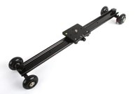 Wholesale rail car tracking for sale - Freeshipping cm Aluminum Wheel Camera Slider Dolly Car Track Rail Video Stabilizer for DSLR DV Camcorder