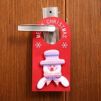 Wholesale gate homes resale online - Merry Christmas Door Hanging Pendant Ornament Christmas Decorations for Home Hotel Door Xmas Gift Natal New Year Gate Decoration