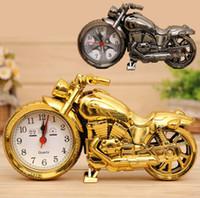 ingrosso sveglia da tavolo al quarzo-Sveglia del motociclo della sveglia del motociclo del quarzo del motociclo dell'orologio di orologio creativo sveglio dell'orologio di tavolo dell'orologio della casa Trasporto libero