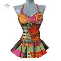 vêtements africains traditionnels femmes achat en gros de-2019 chemise africaine de cire d'impression pour les femmes Dashiki sans manches vêtements d'Afrique, plus la taille des vêtements traditionnels africains WY4387