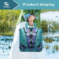Wholesale butterfly totes resale online - Designer Handbag Hot Sell Crossbody Shoulder Bags Luxury Designer Handbags Women Messenger Bags Purse Six Butterflies Tote
