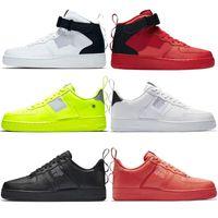 neue hoch geschnittene schuhe großhandel-Nike air force 1 AF1 Schuhe one shoes New Classic Klassik Hallo Hoch und Niedrig Schwarz Weizen Männer Frauen Sport Turnschuhe Laufschuhe Forcen 1 Laufen Jogging Laufschuhe