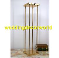 mesa de casamento diy venda por atacado-Novo estilo de Acessórios de Decoração de Casamento Flor Artificial Stands Mesa Central Vaso Pano De Fundo DIY Elegância Garland Colunas decor469