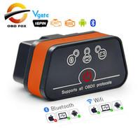 vgate icar2 elm327 großhandel-Vgate iCar2 ELM327 OBD2 Bluetooth-Scanner Ulme 327 V2.1 OBD 2 wifi icar 2 Selbstdiagnosescanner für Android / PC / IOS Codeleser