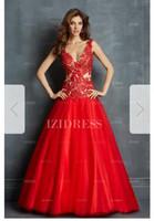 Ball Gown V-neck Floor-length Organza Prom Dresse66 8b846a430d5e