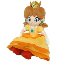 peluş oyuncak prenses toptan satış-Güzel Kızlar Peluş Oyuncak Sane Süper Mario Prenses Papatya Peluş Bebek Oyuncak Çocuk Doğum Günü Partisi Hediye Oyuncak 20 cm