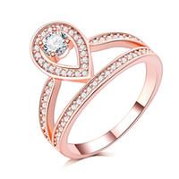 18k gold used wedding rings großhandel-neue mode ringe täglichen gebrauch hochwertiges blei und nickelfrei roségold gefüllt zirkonia Micro hochzeit ringe gepflastert hochzeit