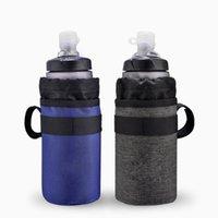 isolierte fahrradtasche großhandel-Fahrrad Wasserflasche Tasche Radfahren Fahrrad Lenker 750ml Isolierte Wasser Trinkbeutel Cooler Pack Trink Träger