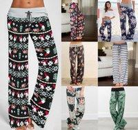 uzun bacak yoga pantolon toptan satış-Kadınlar Çiçek Yoga Palazzo Pantolon 38 Stiller Yaz Geniş Bacak Pantolon Serbest Sport Harem Pantolon Serbest Boho Uzun Pantolon OOA5197