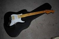 ingrosso fatta per chitarre elettriche-2020 Spedizione gratuita Top Quality Stratocaster made in usa 6 corde nero HSH chitarra elettrica corpo personalizzato