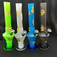 Wholesale foldable silicone water pipe resale online - Fashion Colorful Silicone Mini Bong Water pipe Foldable Water Pipe Hookah Water Pipes Rubber Hookah Oil VT0153