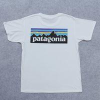 frauen s weiße t-shirts großhandel-Liebhaber Sommer Kurzarm T-Shirts Modemarke Streetwear Weiß T-Shirts PATAGONIA Herren Damen Print Tops Kleidung Skateboard