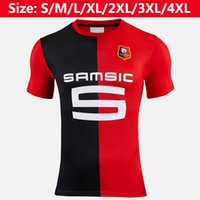 camisetas de fútbol de tailandia negro rojo al por mayor-Camiseta de fútbol de Tailandia Stade Rennais 2019 2020 Babacar Hunou Sarr Arfa camiseta de fútbol 19 20 camisetas de hombre de Stade Rennais casa camisetas rojas negras