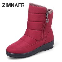 Wholesale snow boots size 42 for sale - Group buy 2019 ZIMNAFR BRAND SNOW BOOTS WOMEN S BOOTS WATERPROOF ANTISIKD ANKLE WOMEN WINTER SNOW BOOTS PLUS SIZE