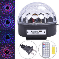 Wholesale Hot Disco DJ Stage Lighting RGB Crystal Magic Ball MP3 USB Light DMX512 Digital LED Party light with remote
