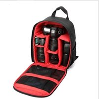 bolsa de fotos a prueba de agua al por mayor-Mochila Cámara Cámara digital DSLR impermeable Bolsa acolchada Funda de video suave para exteriores para Nikon / para Canon / DSLR Cubierta multifuncional