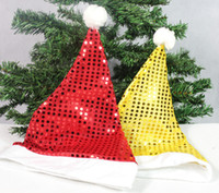 Wholesale accessories white short dress for sale - Group buy 2Pcs Hot Selling Deluxe Sequin Santa Hat Outfit Accessory for Christmas Nativity Fancy Dress ZHH141